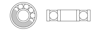 Chrome Bearings - Metal Shielded