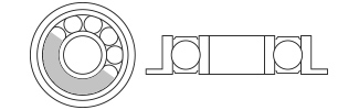 Chrome Bearings Flanged - Metal Shielded
