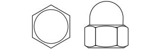 Closed Head Hexagon Nuts - DIN1587 Steel