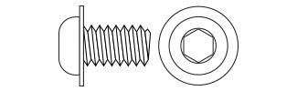 Hex Button Head Flange Screws - DIN7380F Steel