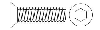 Hex Flat Head Screws - DIN7991 Steel