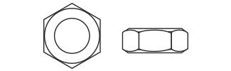 Low Profile Hexagon Nuts - DIN936 Steel