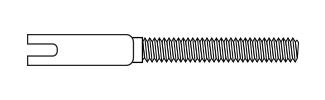 Threaded Coupler - Steel Wire